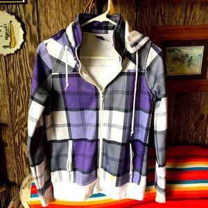 Empyre purple & white jacket.